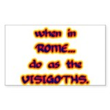 Visigoths Rectangle Decal