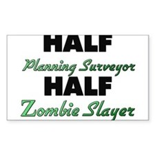 Half Planning Surveyor Half Zombie Slayer Decal