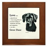 Great Dane (Black) Gifts Framed Tile