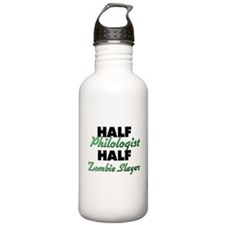 Half Philologist Half Zombie Slayer Water Bottle