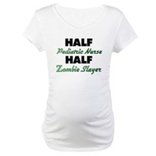 Half Pediatric Nurse Half Zombie Slayer Shirt