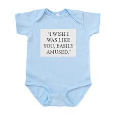 EASILY AMUSED Infant Bodysuit