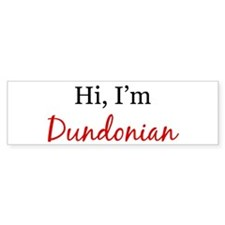 Hi, I am Dundonian Bumper Car Sticker