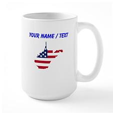 Custom West Virginia American Flag Mugs