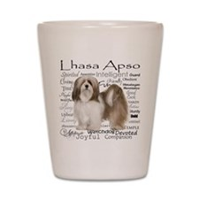 Lhasa Apso Traits Shot Glass
