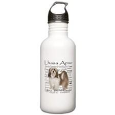 Lhasa Apso Traits Water Bottle