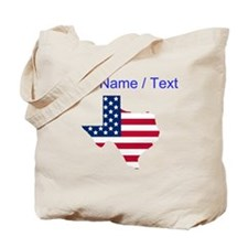 Custom Texas American Flag Tote Bag