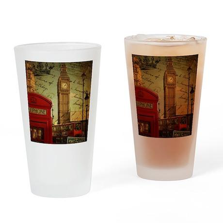 vintage London UK fashion Drinking Glass