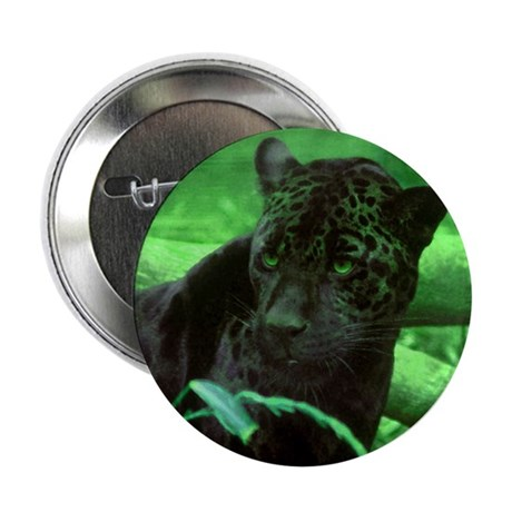 "Black Jaguar 2.25"" Button (100 pack)"