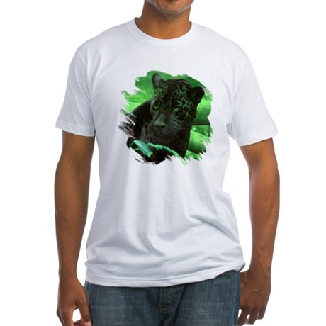 Black Jaguar Fitted T-Shirt