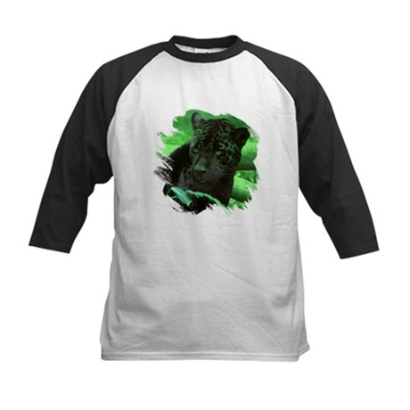 Black Jaguar Kids Baseball Jersey
