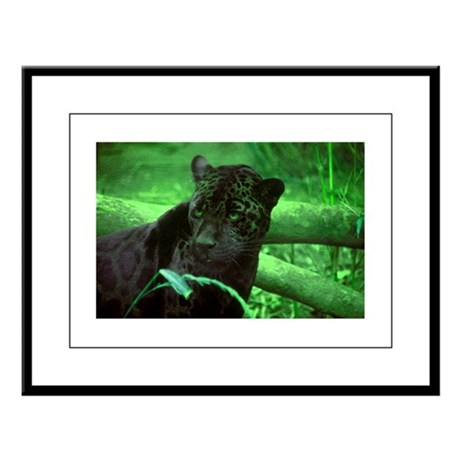 Black Jaguar Large Framed Print