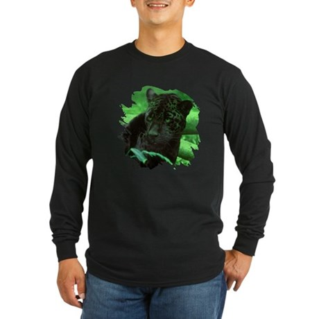 Black Jaguar Long Sleeve Dark T-Shirt