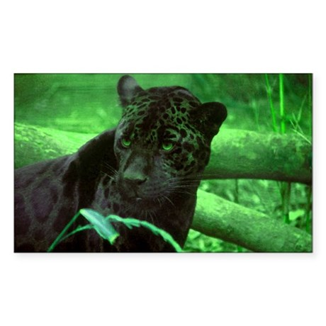 Black Jaguar Rectangle Sticker