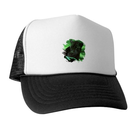 Black Jaguar Trucker Hat