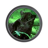 Black Jaguar Wall Clock