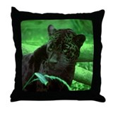 Black Jaguar Throw Pillow