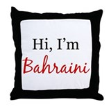 Hi, I am Bahraini Throw Pillow