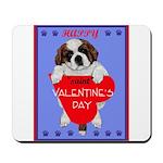 Valentine Saint Bernard Mousepad