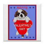 Valentine Saint Bernard Tile Coaster