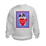Valentine Saint Bernard Kids Sweatshirt