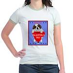 Valentine Saint Bernard Jr. Ringer T-Shirt
