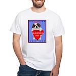 Valentine Saint Bernard White T-Shirt