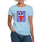 Valentine Saint Bernard Women's Pink T-Shirt