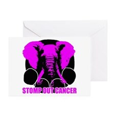 Stomp out cancer Greeting Cards (Pk of 10)