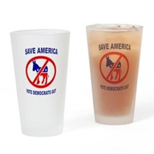 DEMOCRATS OUT Drinking Glass