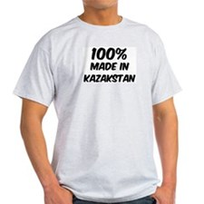 100 Percent Kazakstan Ash Grey T-Shirt