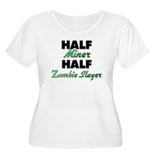 Half Miner Half Zombie Slayer Plus Size T-Shirt