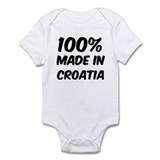 100 Percent Croatia Infant Bodysuit