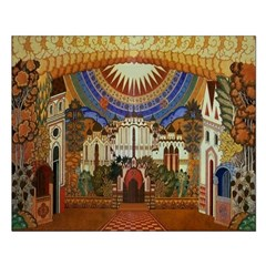 Russian Town Square Unframed Print