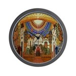 Russian Town Square Wall Clock