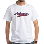 Retro Arkansas White T-Shirt