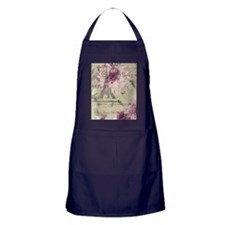 floral paris eiffel tower roses Apron (dark)