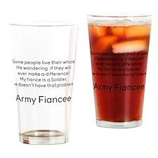 Army Fiancee No Prob Drinking Glass