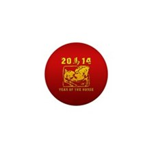 Year of The Horse 2014 Mini Button