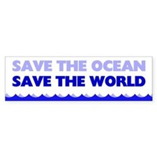 Save The Ocean Bumper Sticker