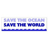 Save The Ocean Car Sticker