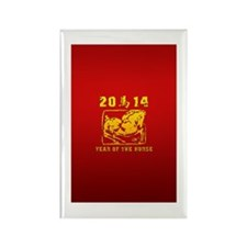 Year of The Horse 2014 Rectangle Magnet (10 pack)