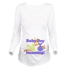 Baby Boy Stork Long Sleeve Maternity T-Shirt