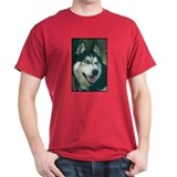 Siberian Husky Photo Dark Colored T-Shirt