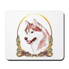 Red Husky Christmas/Holiday Mousepad