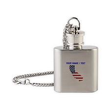 Custom California American Flag Flask Necklace