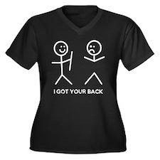 I Got Your B Women's Plus Size Dark V-Neck T-Shirt