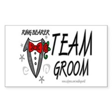 Ring Bearer Rectangle Stickers