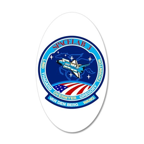 Discovery STS-51B 20x12 Oval Wall Decal