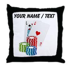 Custom Blackjack Throw Pillow